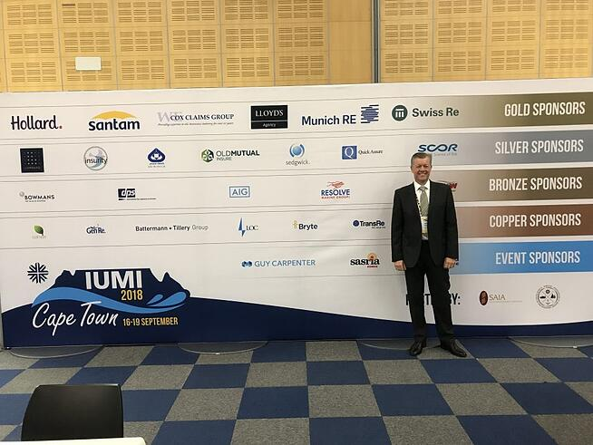 Concirrus CEO Andy Yeoman arriving at IUMI 2018